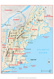 Michelin Official Northern New England Relief Map Art Print Poster Poster