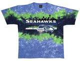 Seahawks Horizontal Stencil Shirts