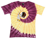 Juniors: Redskins Logo Spiral V-Dye T-shirts