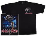 Falcons Logo Sky Helmet T-skjorte