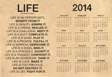 Mother Teresa Life Quote Motivational 2014 Calendar Poster Poster