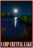 Camp Crystal Lake Retro Travel Poster Plakát