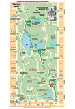 Michelin Official Central Park Map Art Print Poster Print