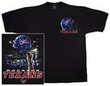 Texans Logo Sky Helmet T-skjorter
