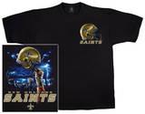 NFL: Saints Logo Sky Helmet T-skjorter
