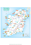 Michelin Official Regions of Ireland Green Guide Map Art Print Poster Posters