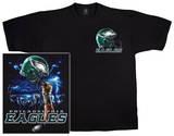 NFL: Eagles Logo Sky Helmet T-skjorte