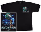 Eagles Logo Sky Helmet T-Shirt