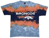 NFL: Broncos Horizontal Stencil T-shirts