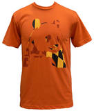 Panda Bear - Orange Panda (slim fit) T-Shirt