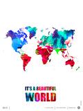 It's a Beautifull World Poster Poster von  NaxArt