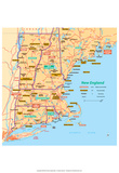 Michelin Official New England Map Art Print Poster Poster