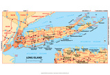Michelin Official Long Island Map Art Print Poster Posters