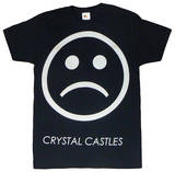 Crystal Castles - Sad Face on Black (slim fit) T-Shirt