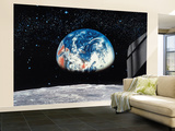 Earth / Moon Wallpaper Mural