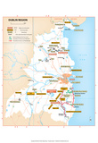 Michelin Official Dublin Region Map Art Print Poster Posters