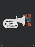 Blow Your Horn Poster Poster van  NaxArt