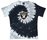 Juniors: NFL: Raiders Logo Spiral V-Dye T-shirts