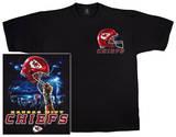 Chiefs Logo Sky Helmet T-shirts