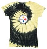 Juniors: Steelers Logo Spiral V-Dye T-skjorte