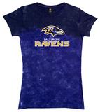 Juniors: Ravens Banded Logo T-Shirt
