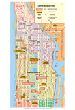 Michelin Official Upper Manhattan NYC Map Art Print Poster Foto
