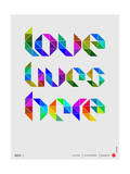Love Lives Here Poster Poster by  NaxArt