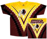 Redskins Logo V-Dye T-Shirt