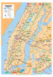 Michelin Official Manhattan Subways Map Art Print Poster Posters