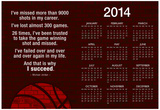 Michael Jordan Why I Succeed Quote 2014 Calendar Poster Posters