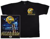 NFL: Packers Logo Sky Helmet T-skjorter