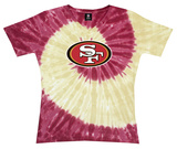 Juniors: NFL: 49ers Logo Spiral V-Dye T-Shirt