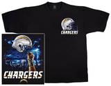 Chargers Logo Sky Helmet T-skjorter