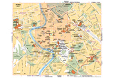 Michelin Official Rome Italy Map Art Print Poster Poster
