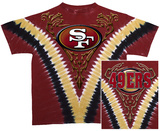NFL: 49ers Logo V-Dye T-shirts