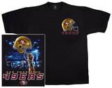 NFL: 49ers Logo Sky Helmet T-skjorter