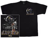 NFL: Ravens Logo Sky Helmet T-shirts