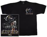 Ravens Logo Sky Helmet T-shirts