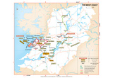 Michelin Official West Coast Ireland Region Map Art Print Poster Prints