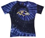 Juniors: Ravens Logo Spiral V-Dye T-Shirt