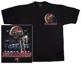 Buccaneers Logo Sky Helmet T-shirts