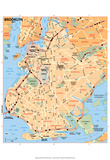 Michelin Official Brooklyn Map Art Print Poster Posters
