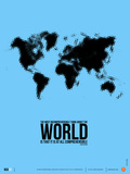 World Map Poster Poster by  NaxArt