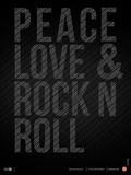 Peace Love and Rock N Roll Poster Posters by  NaxArt