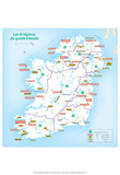 Michelin Official Regions of Ireland French Map Art Print Poster Poster