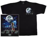 Jets Logo Sky Helmet T-shirts