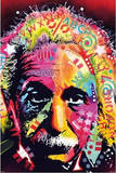 Albert Einstein by Dean Russo Pop Art Print Poster Poster