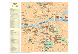 Michelin Official Dublin French Map Art Print Poster Print