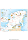 Michelin Official Yucatan Penninsula French Map Art Print Poster Posters