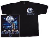 NFL: Colts Logo Sky Helmet T-Shirt